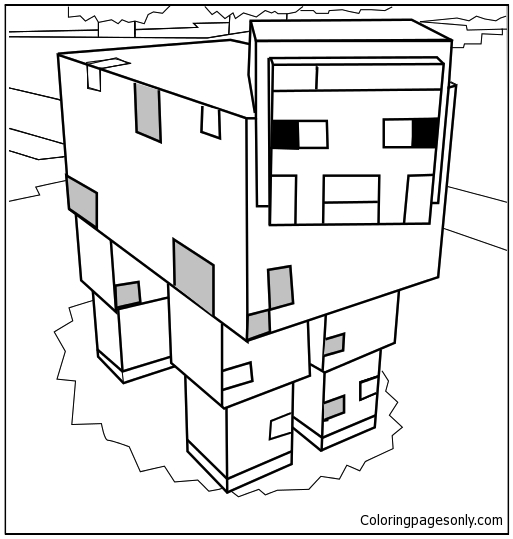 minecraft logo coloring pages - minecraft mooshroom 1 coloring page free coloring pages