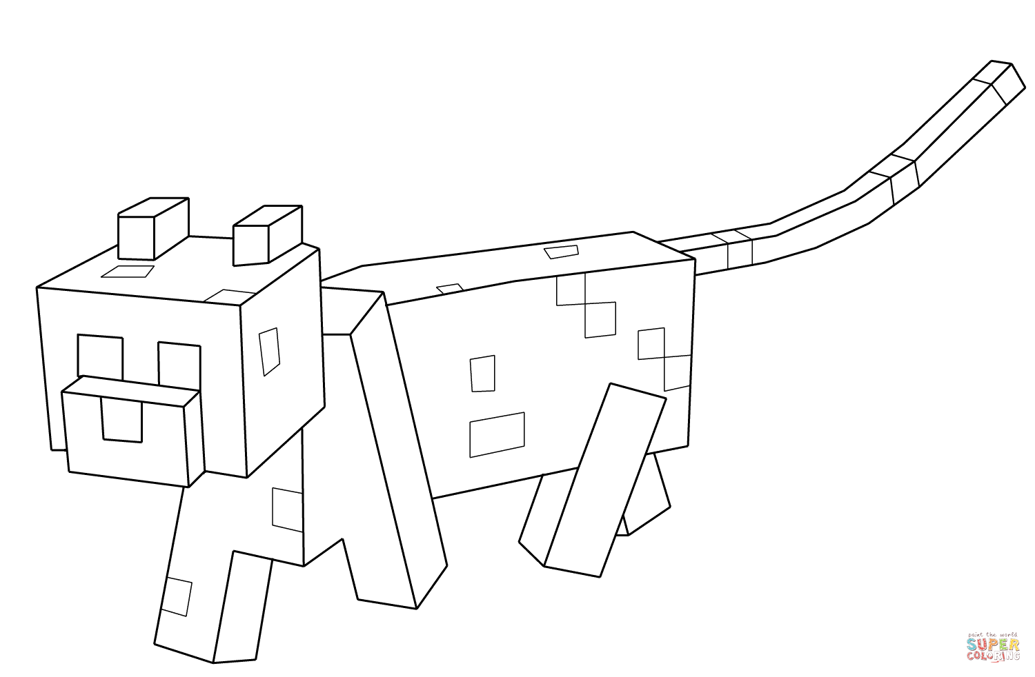 Minecraft Ocelot From Minecraft Coloring Page Free Coloring Pages Online