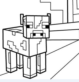 Minecraft PDF Coloring Page