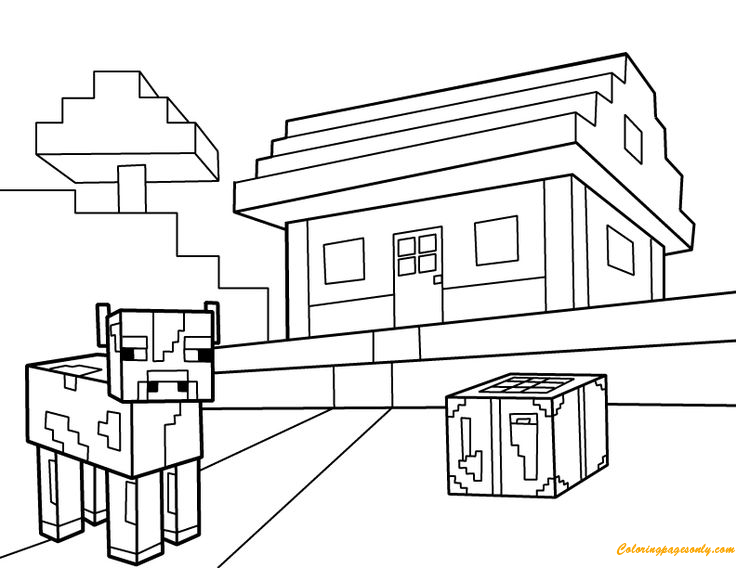 Minecraft PDF Coloring Pages - Cartoons Coloring Pages - Coloring Pages For  Kids And Adults