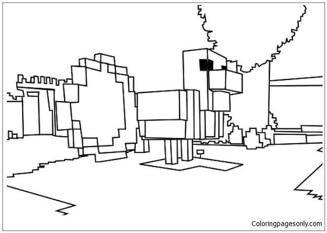 Minecraft Picture 1 Coloring Pages