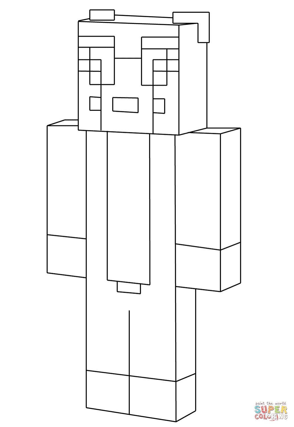 Minecraft Stampylongnose From Minecraft Coloring Page