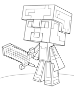 Minecraft Steve Diamond Armor from Minecraft