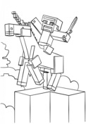 Minecraft Unicorn from Minecraft Coloring Page