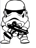 Mini Clone Soldier Star Wars Coloring Page