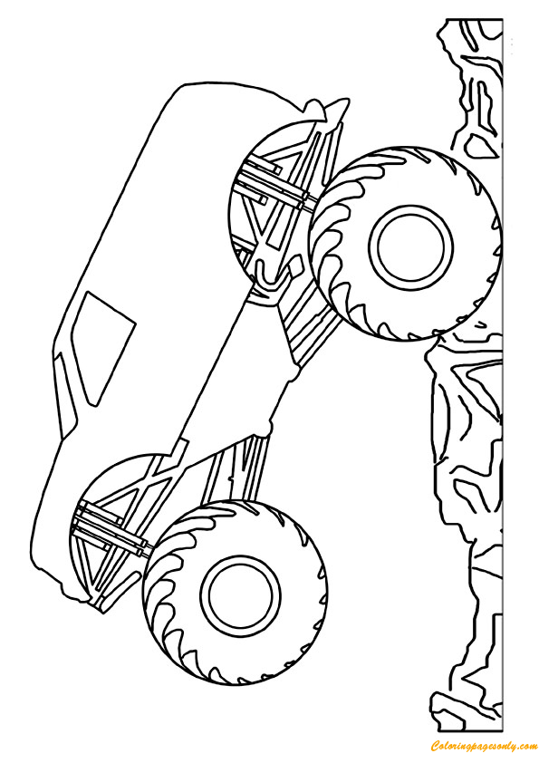 mini monster truck coloring page - Free Monster Truck Coloring Pages