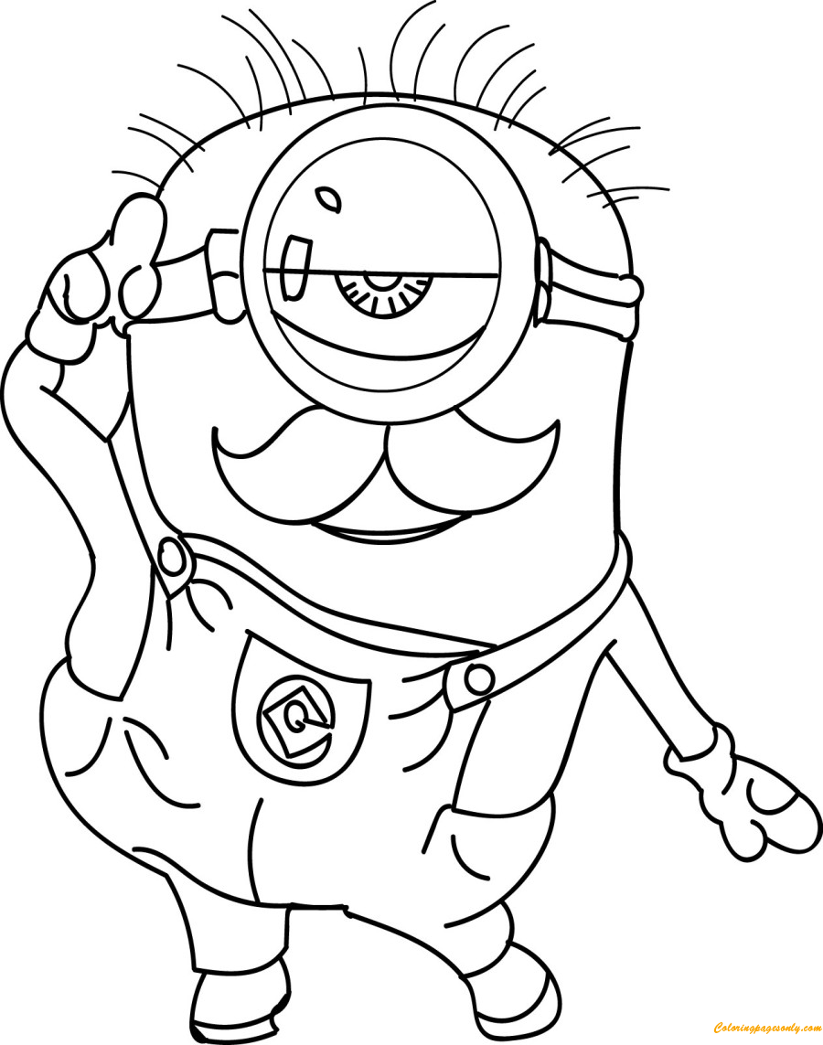 minion cute coloring page free coloring pages online