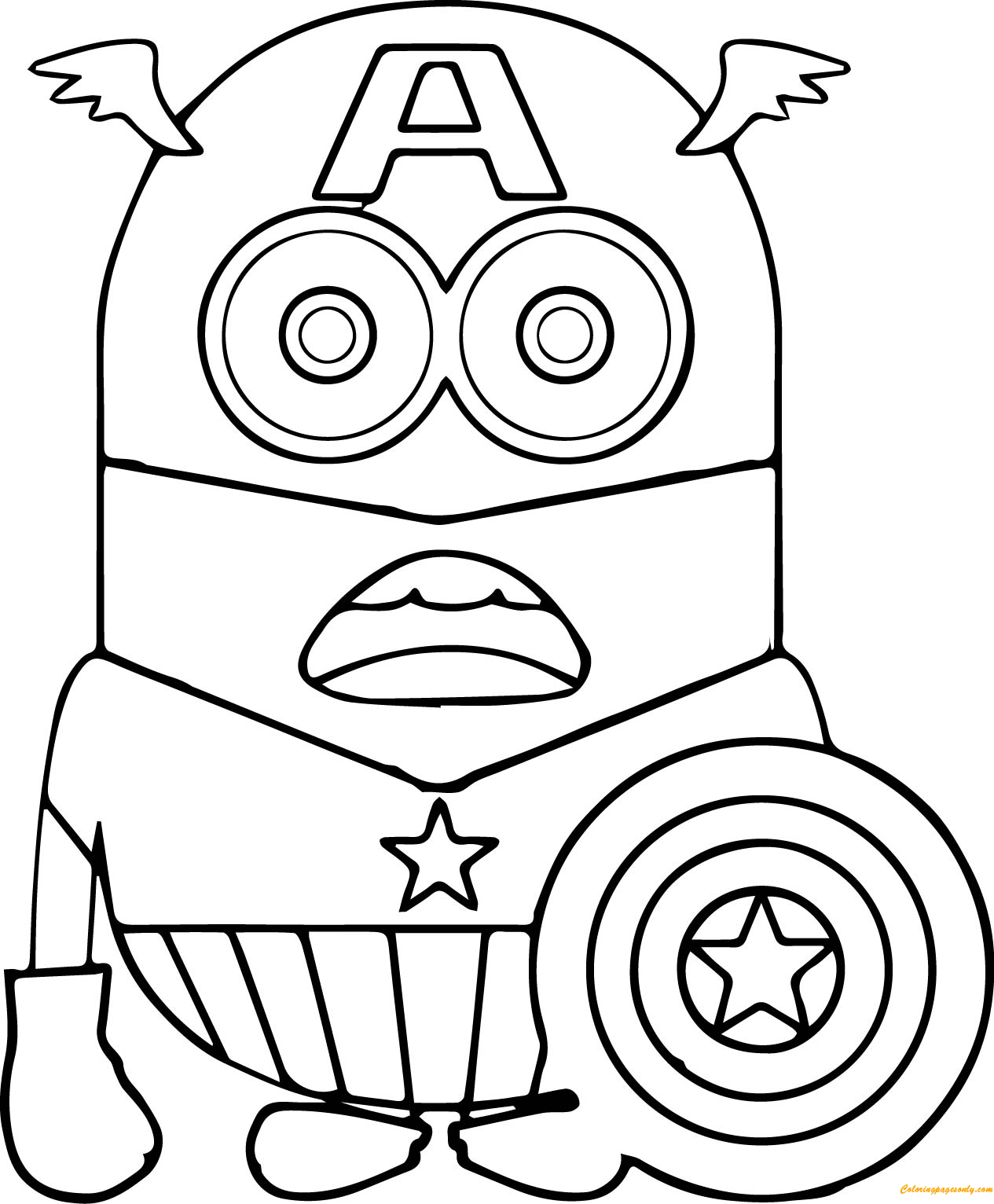 Minion Dave Coloring Page Free