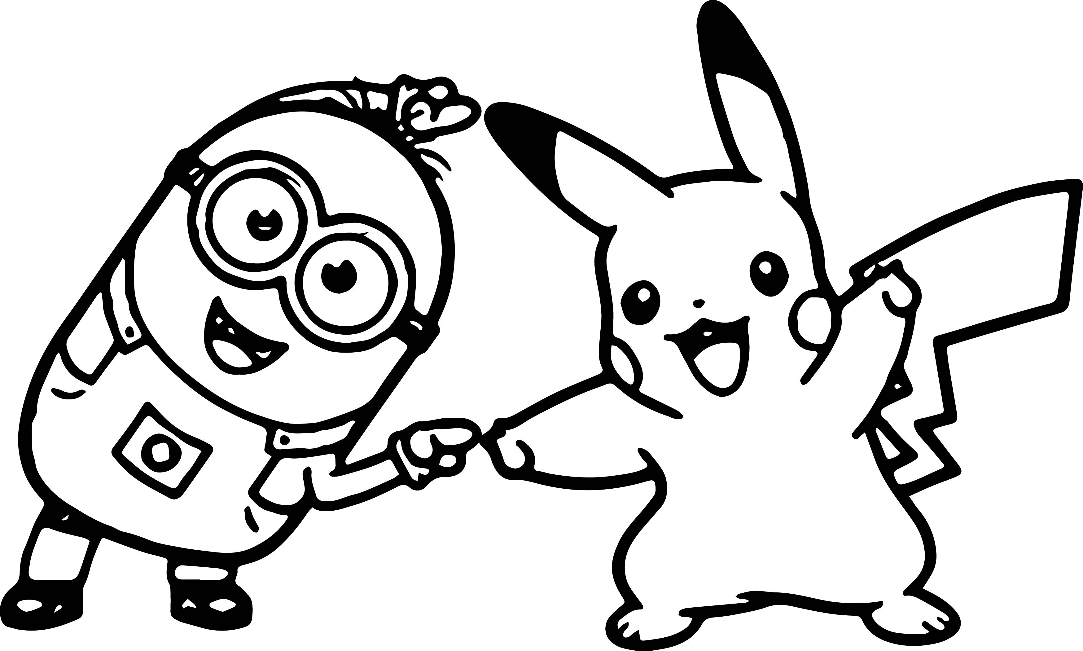 Minion Kevin Golf Dancing With Pikachu Coloring Page - Free ...