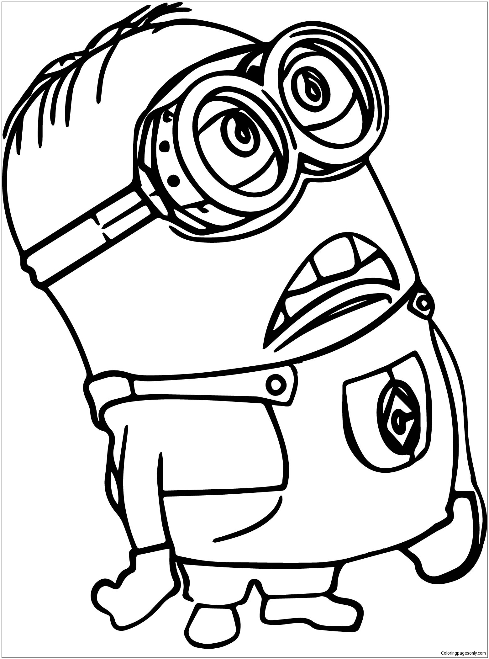 Minion Of Despicable Me Coloring