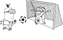 Minion Playing Soccer