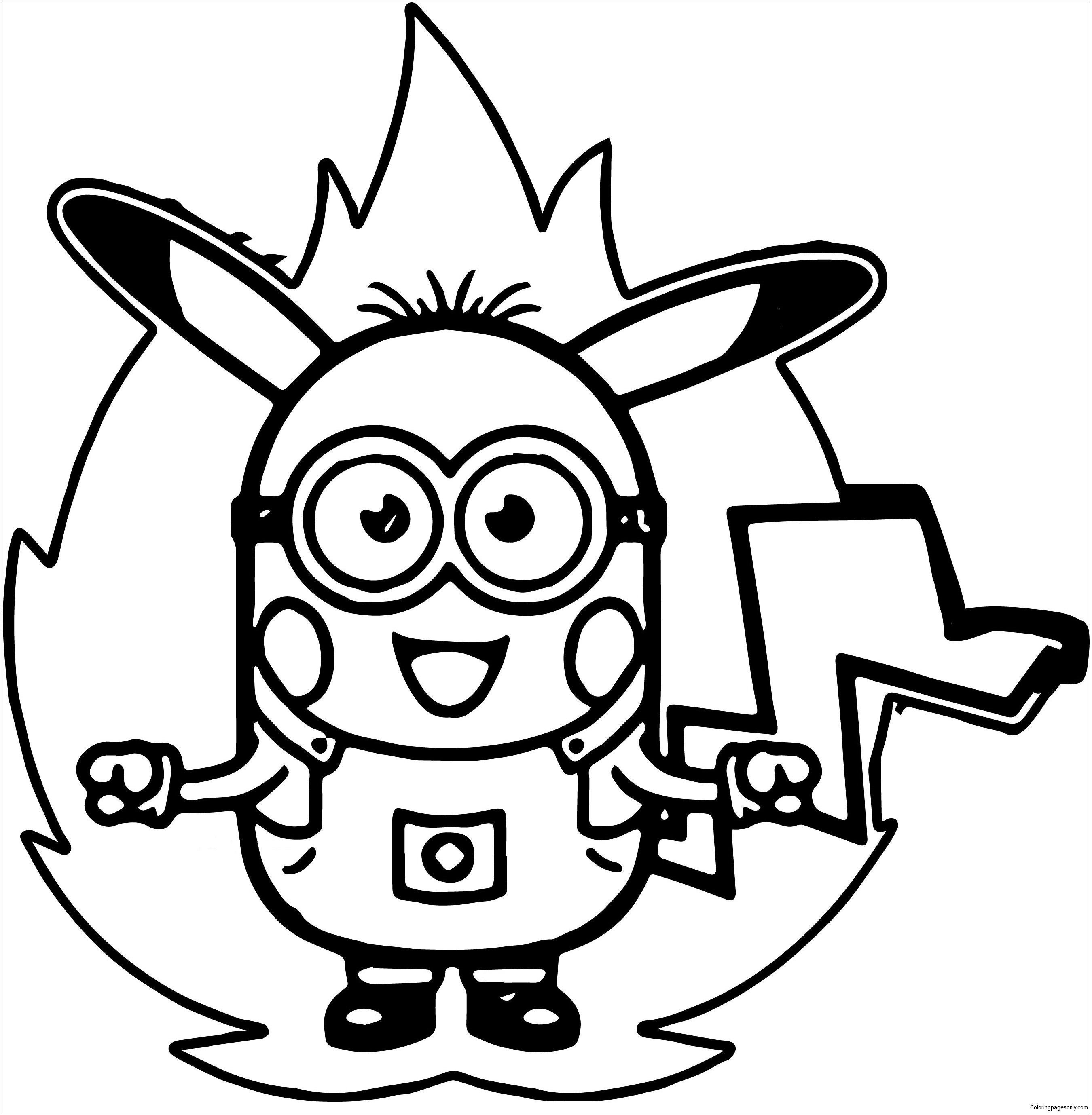 Kleurplaat Minions Dave Minion Pokemon Coloring Page Free Coloring Pages Online