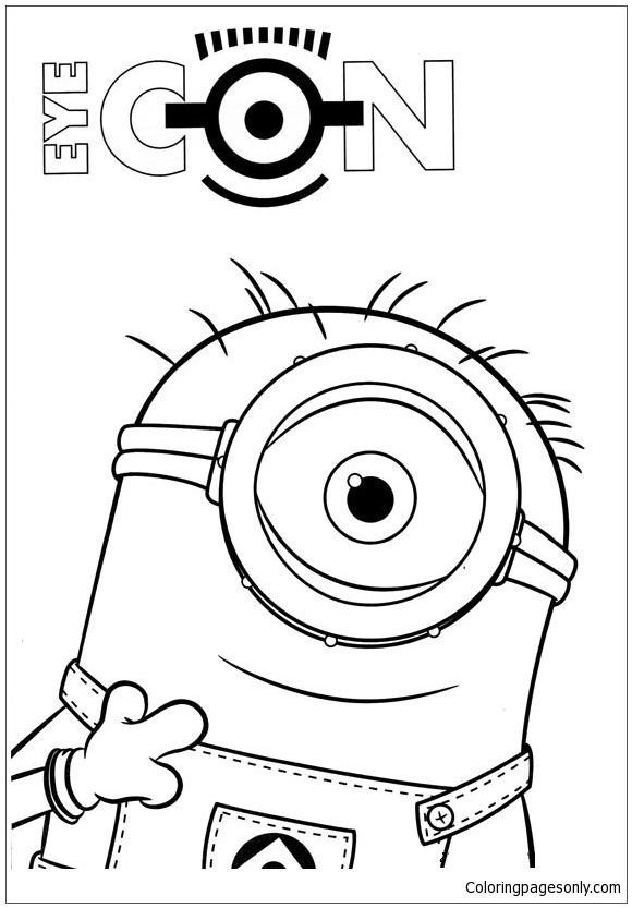 Minion 2 Coloring Page