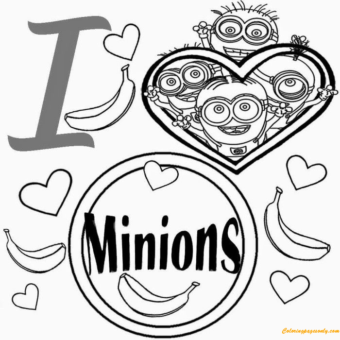 Minions Add Photo Gallery Minion Coloring Page - Free Coloring ...