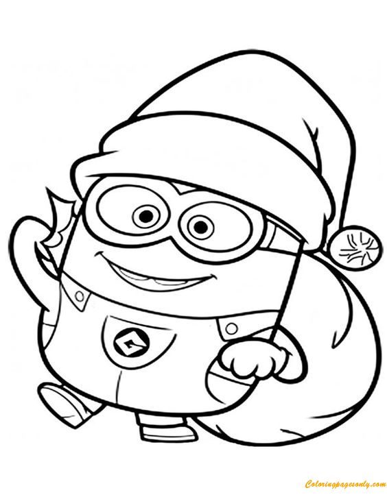 Minions Christmas Coloring Pages - Cartoons Coloring Pages - Free Printable Coloring  Pages Online