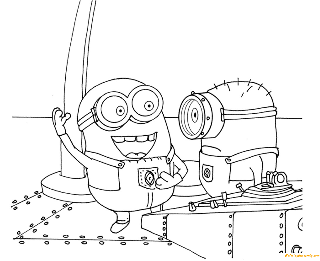 minions despicable me s printable5deb coloring page - Free Coloring Pages Minions