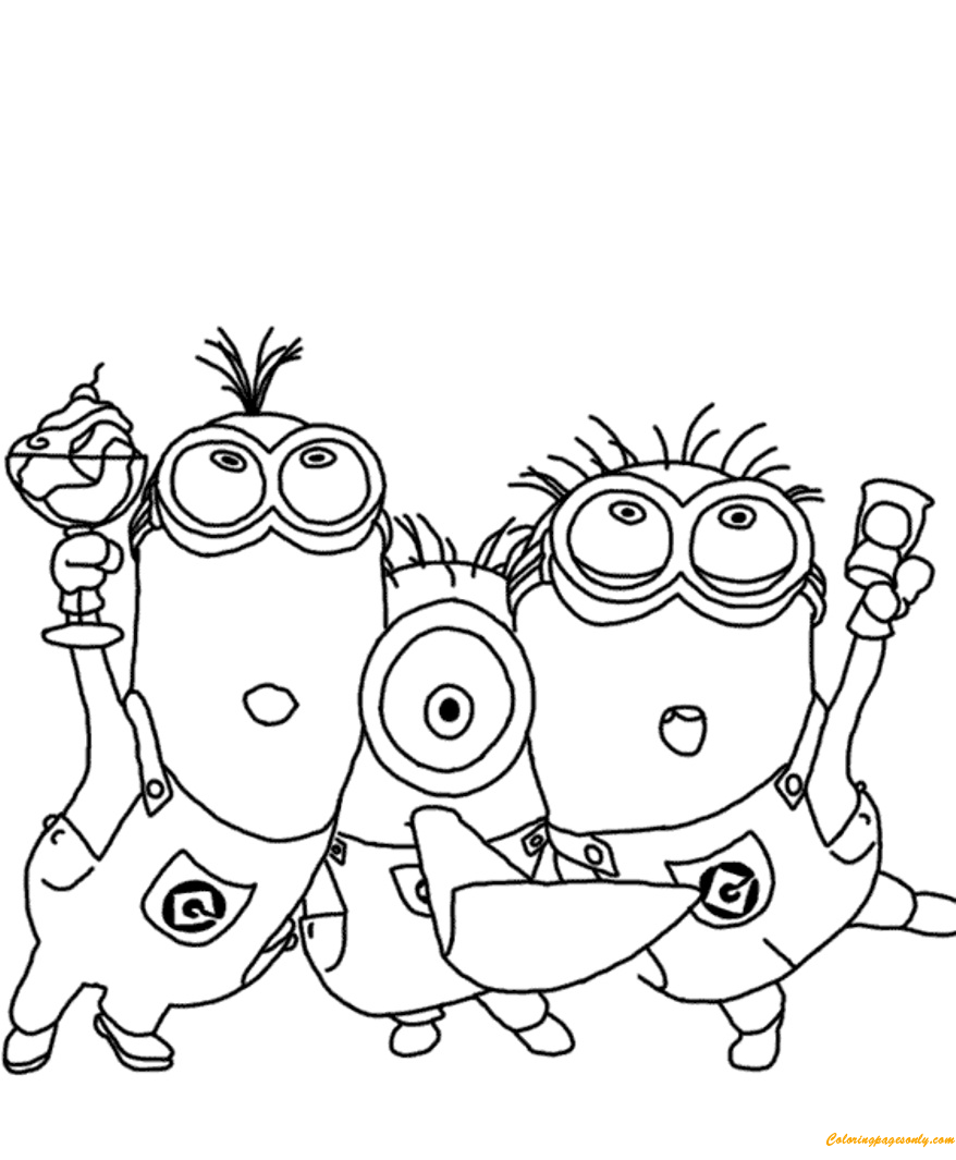 Minions Despicable Me S3347 Coloring Page