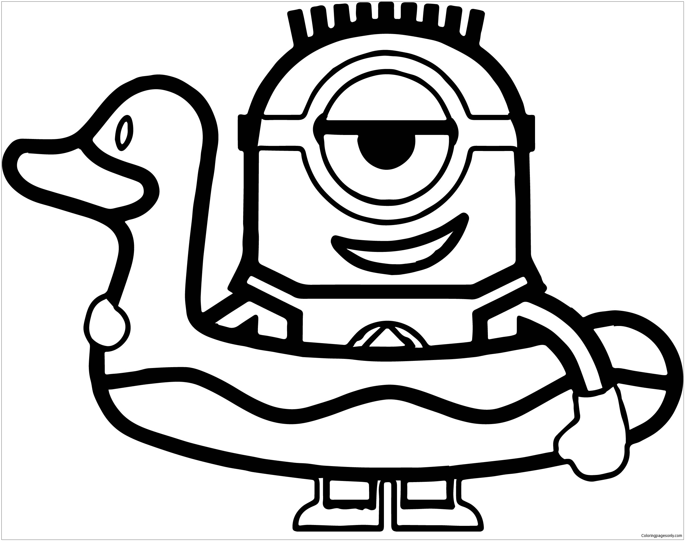 Minions Duck Coloring Page Free Coloring Pages Online