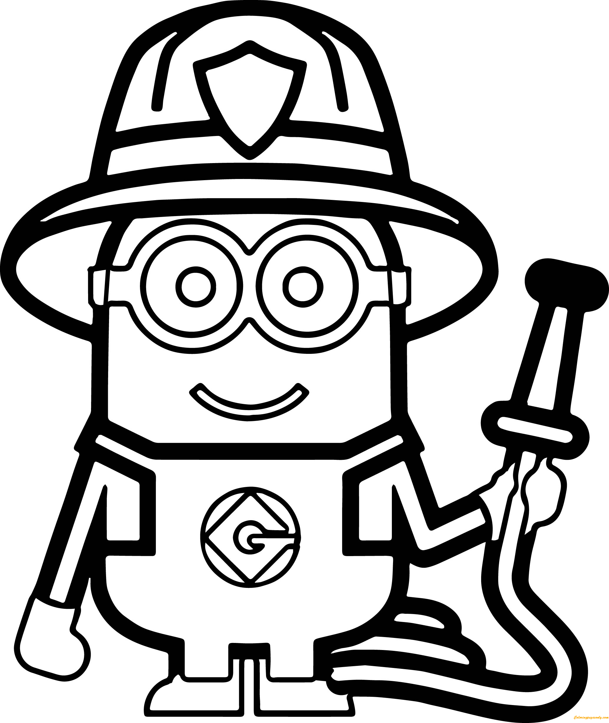 Download Minions Fireman Coloring Page - Free Coloring Pages Online