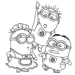 Minions Halloween Coloring Page Free Coloring Pages Online