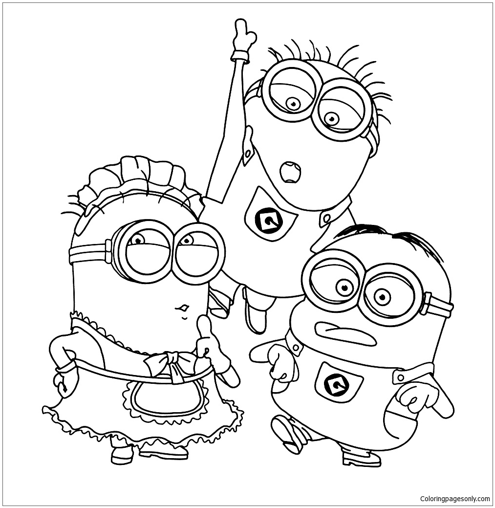minions kleurplaat coloring page free coloring pages