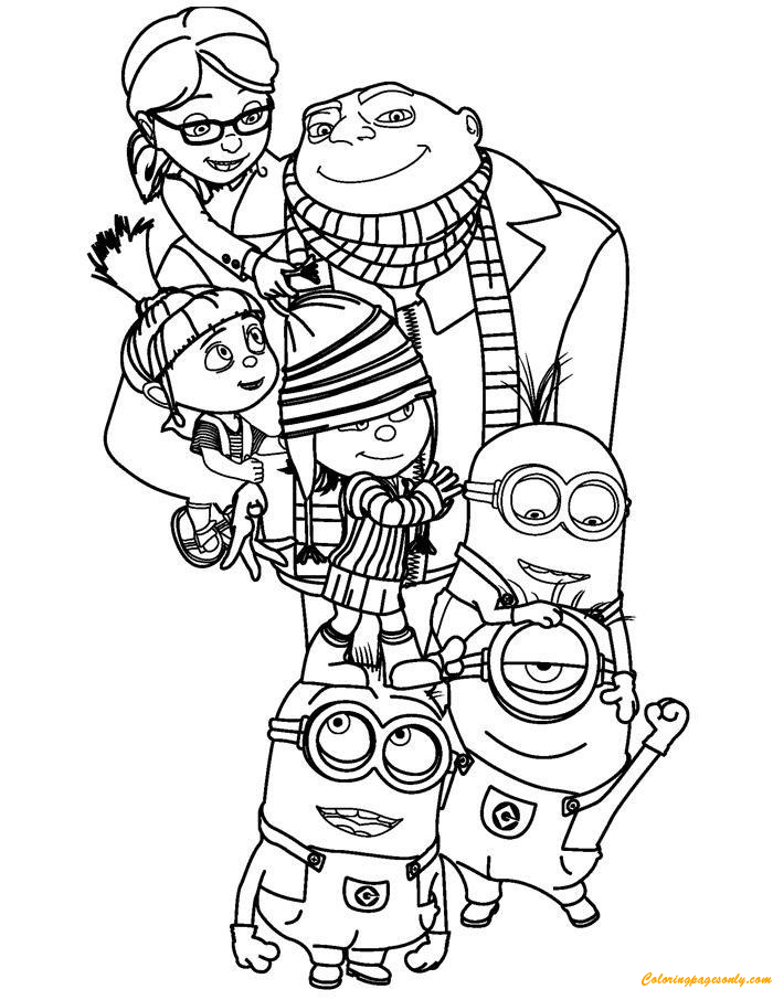 Minions The Family Coloring Page