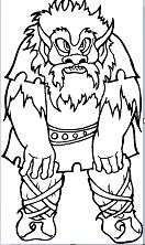 Miscellaneous Troll Coloring Page
