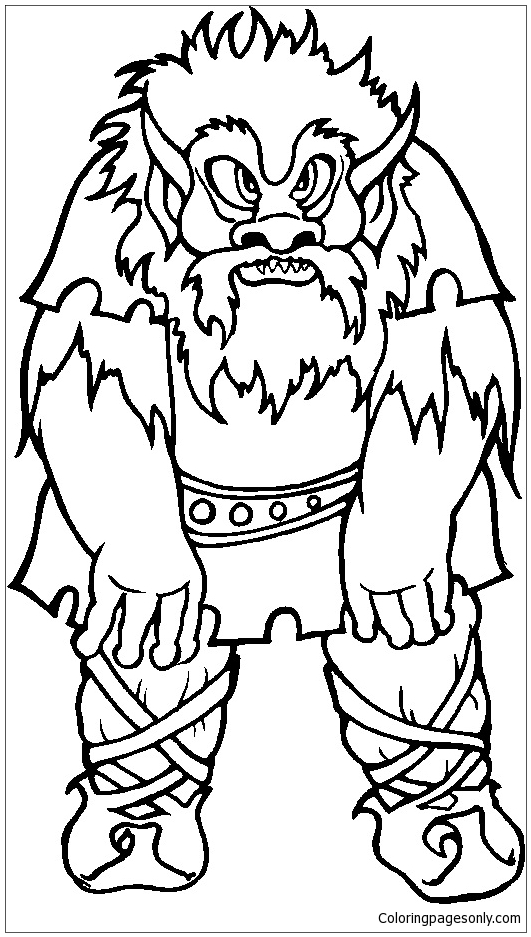 Miscellaneous Troll Coloring Page Free Coloring Pages Online