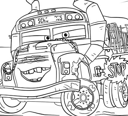 Miss Fritter From Cars 3 Disney Coloring Page Free Coloring Pages