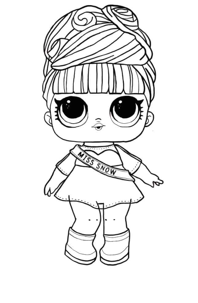 Lol Suprise Doll Miss Snow Coloring Page