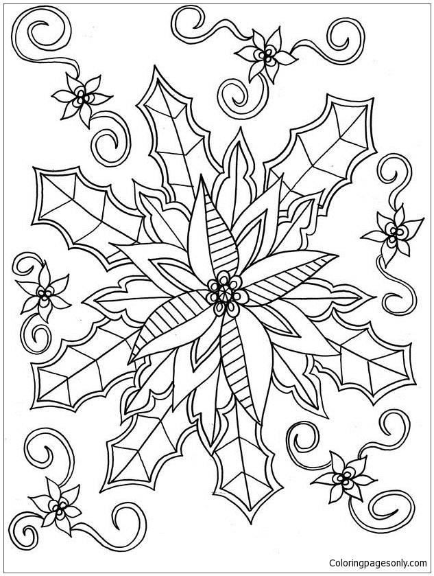 full screen download print picture - Mistletoe Coloring Pages