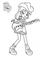 MLPE Applejack With Guitar