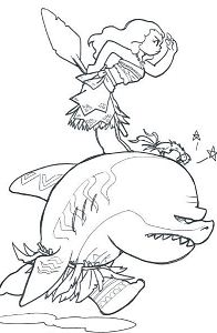 Moana Adventures On The Sea Coloring Page
