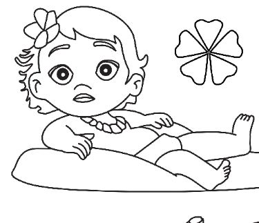 Moana Baby Disney And Friends Coloring Page