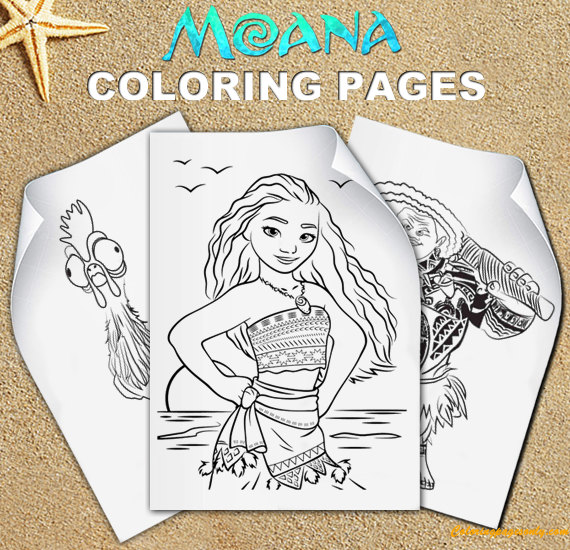 Moana Birthday Parties Coloring Page