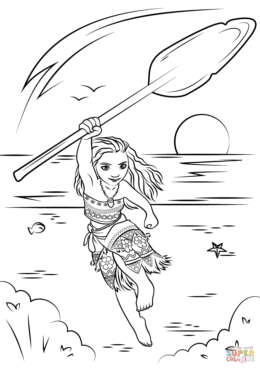 Moana from Moana Coloring Page - Free Coloring Pages Online