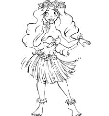Moana Disney Princess Line Art