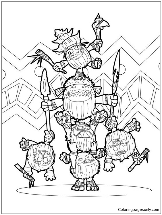 Moana Disney Symbol Coloring Page Free Coloring Pages Online