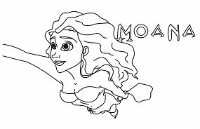 Moana Flying