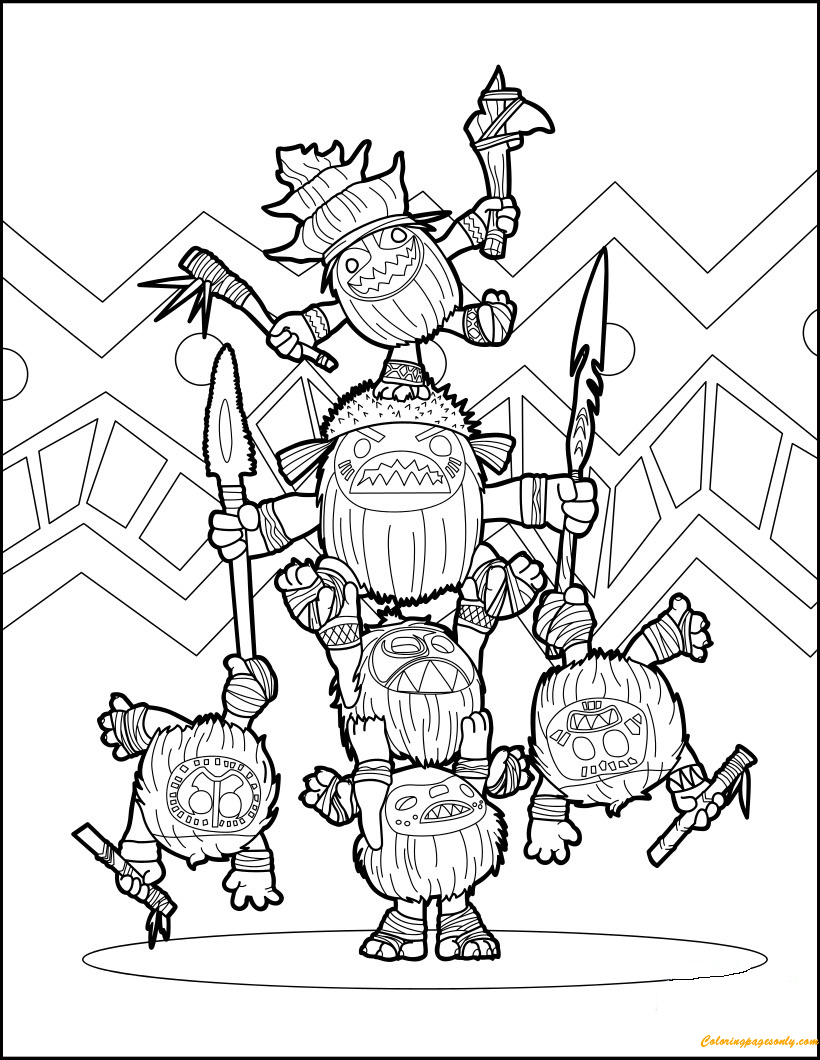 Moana kakamora coloring page free coloring pages online for Moana coloring pages