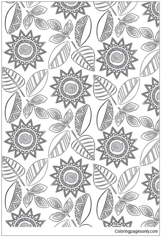 Moana Polynesian Patterns Coloring Page