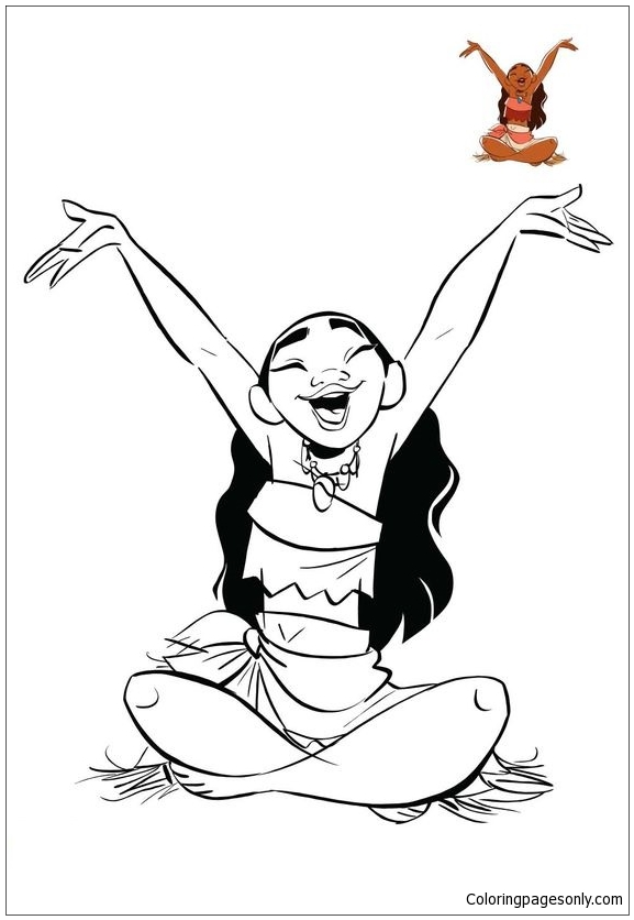 Moana Princess 1 Coloring Page