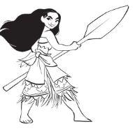 Moana Princess 2 Coloring Page