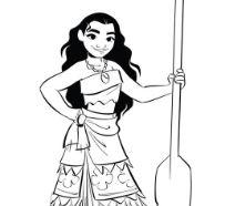 Moana Princess 3 Coloring Page