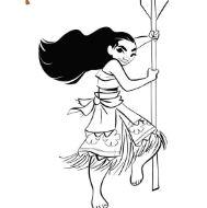 Moana Princess 4 Coloring Page