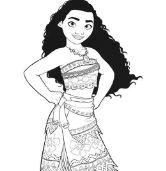 Moana Princess 6 Coloring Page