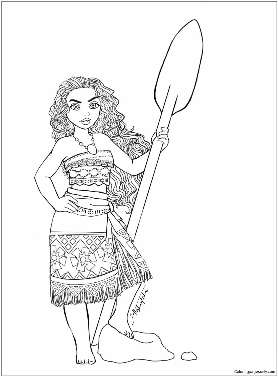 Moana Princess 7 Coloring Page