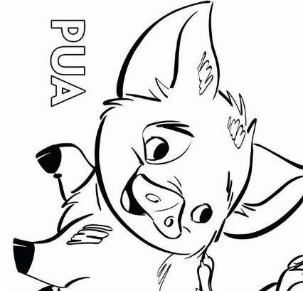 Moana Pua Pig and Heihei Coloring Page