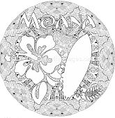 Moana Surfboard and Flower