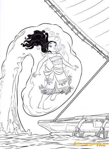 Moana Waialiki Coloring Page - Free Coloring Pages Online